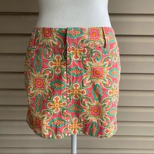 •Old Navy• Moroccan Print Cotton Mini Skirt-Size 4